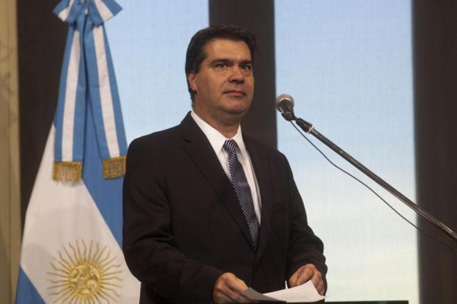 Jorge Capitanich, durante una rueda de prensa el pasado miércoles 30...