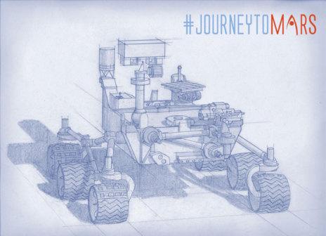 Boceto del vehículo robótico 'Mars 2020'. Uno de los siete...