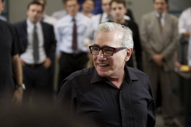 Martin Scorsese, durante el rodaje de 'El lobo de Wall Street'.