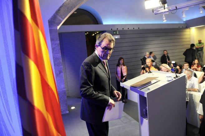 Artur Mas en la última reunión del Govern en la Generalitat.