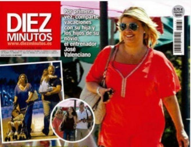 La presentadora disfruta de sus vacaciones en Málaga junto a la...