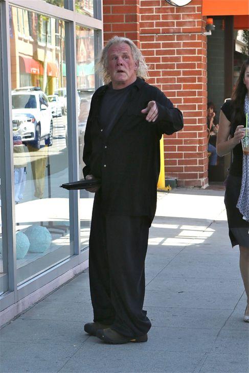 El actor, en las calles de California, este martes.