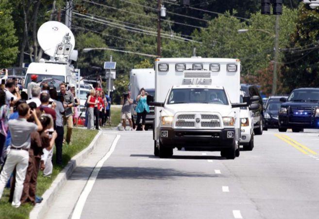Pacientes llegando al hospital