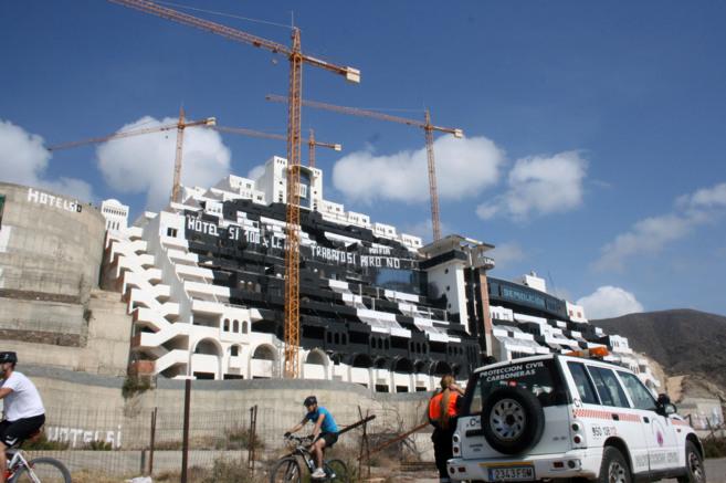 El estado actual de las instalaciones del hotel levantado en el...