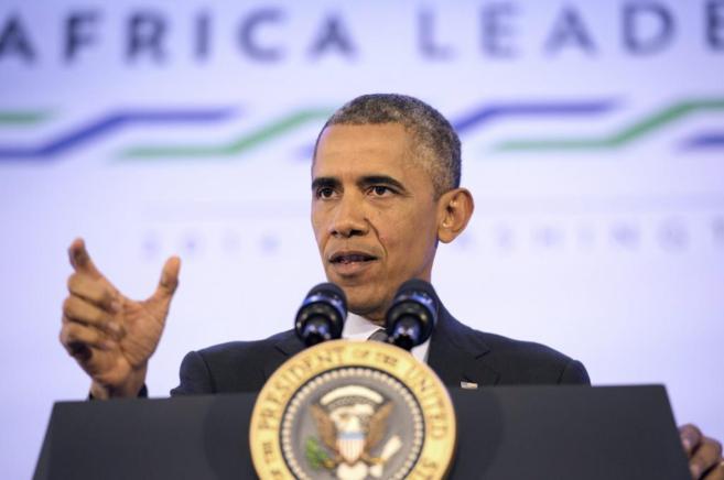 El líder, en un discurso al final de la cumbre EEUU-África en...