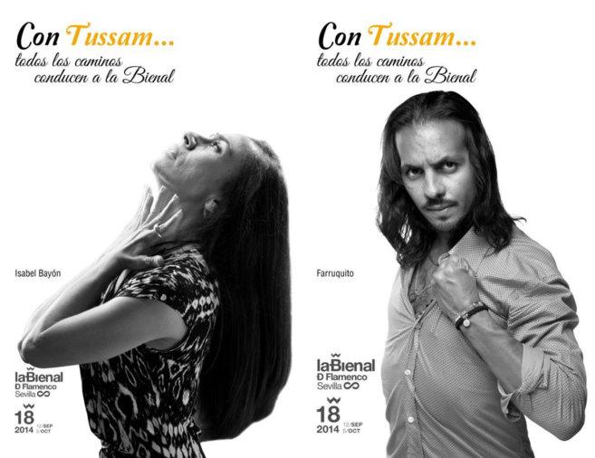 Dos de los carteles de la campaña 'Con Tussam todos los caminos...