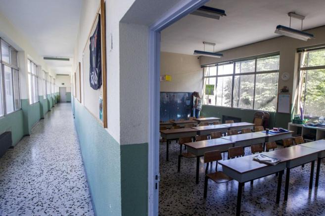 Aula de un colegio todavía vacío.