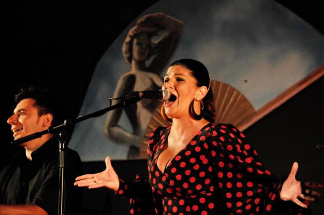 Anabel Ribera en un instante de su actuación.