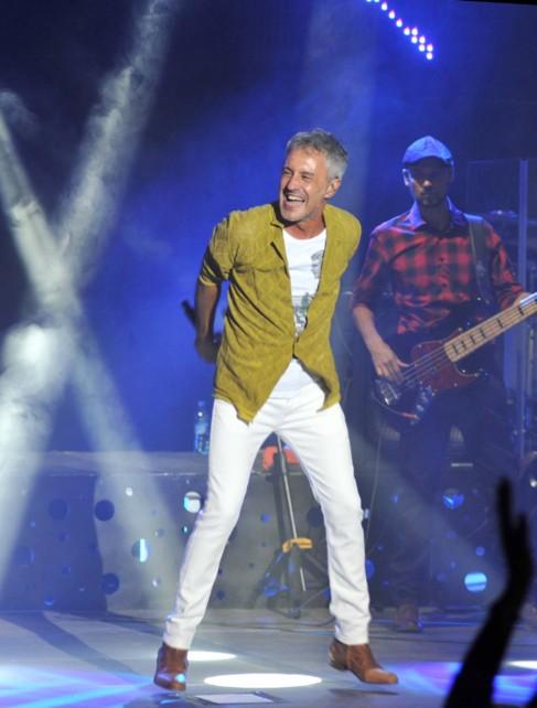 Sergio Dalma durante su actuación.