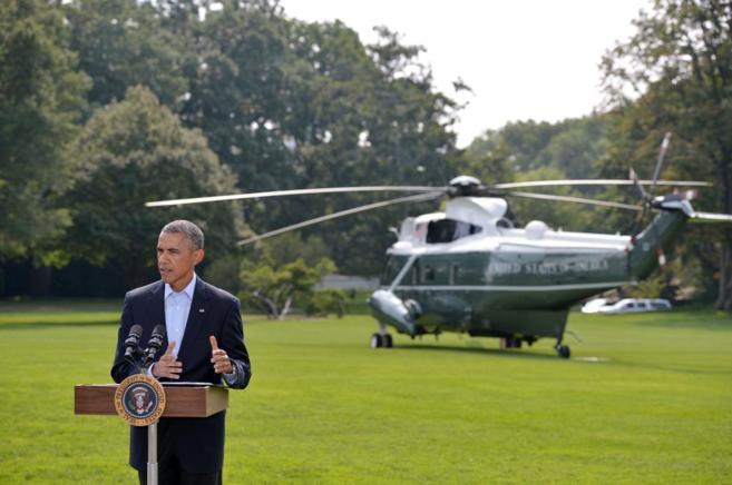 Barack Obama, en su comparecencia ante los medios.