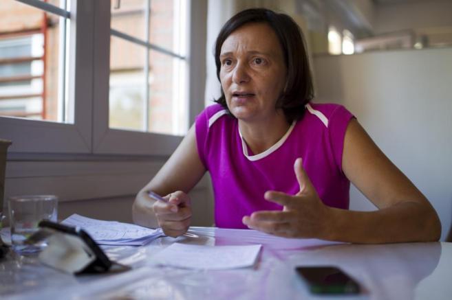 Carolina Bescansa, cofundadora y portavoz de Podemos, durante esta...
