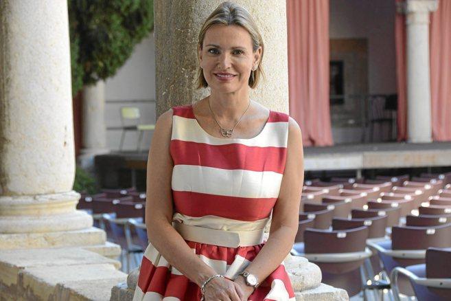 La soprano Ainhoa Arteta, ayer en el Claustre de Pollença.