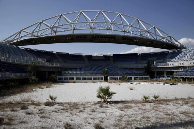 Aspecto actual del estadio donde se celebró el voley playa.