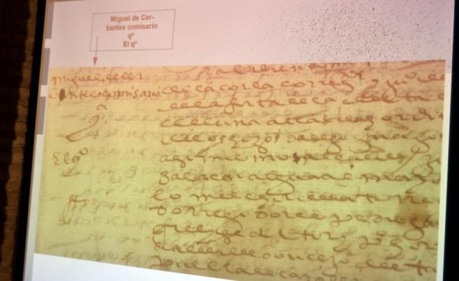 Reproducción fotográfica de una proyección del documento que...