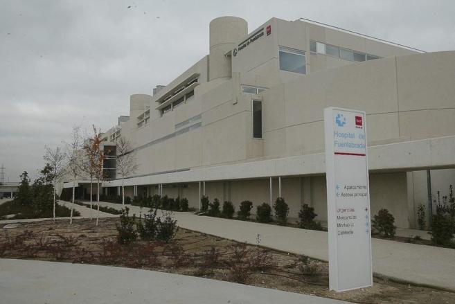 Fachada del hospital de Fuenlabrada, donde se filtraban datos médicos...