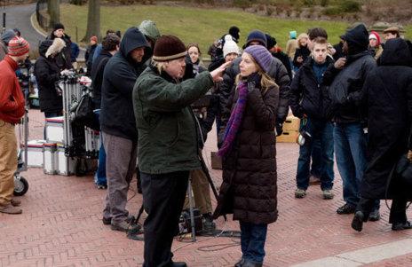 Philip Seymour Hoffman junto a Amy Ryan en el set de rodaje de 'Una...