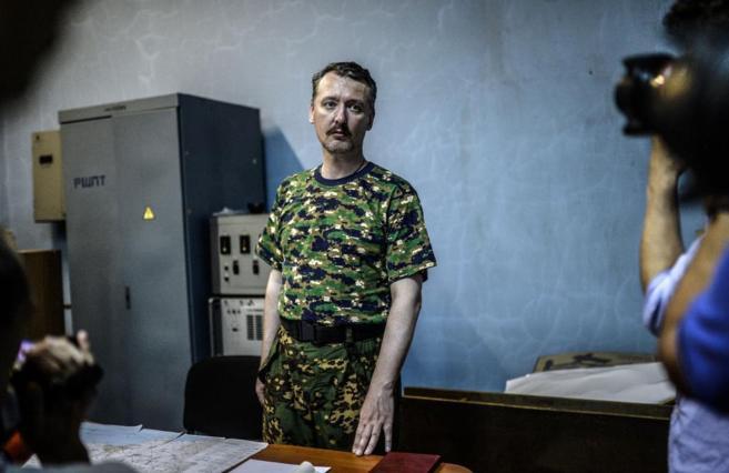 Igor Strelkov, el hasta hoy comandante de los rebeldes prorrusos en...