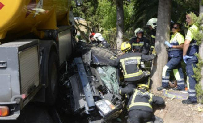 Palma de Mallorca-Baleares-Accidente trafico Pollença.