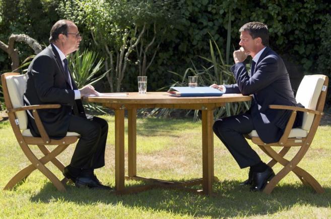 El presidente Hollande y el primer ministro francés, Manuel Valls.