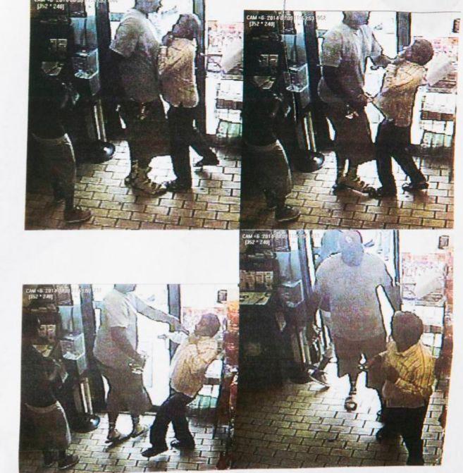 La policía ha distribuido imágenes del incidente en una tienda...