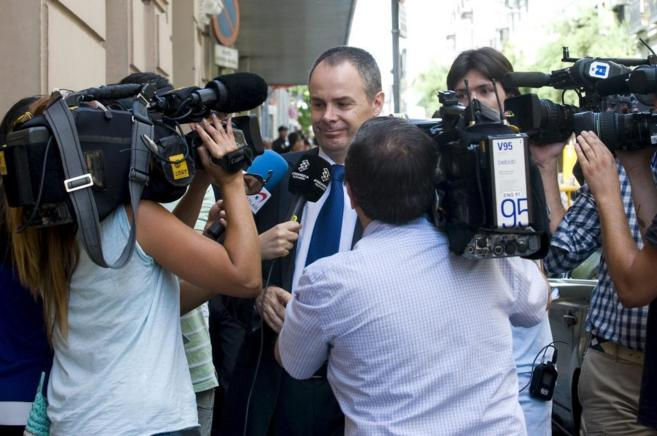 El actual administrador de Gowex, Javier Solsona, antes de declarar...