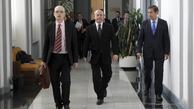 José Ignacio Wert, tras una reunión con los rectores.