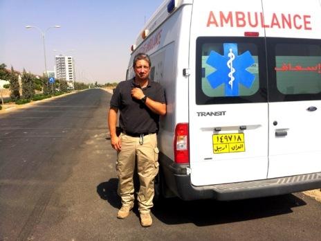 Juan Luis Ney Sotomayor, cirujano  de guerra, en Erbil (Kurdistán...