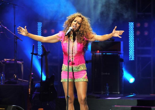 Rosario Flores, durante su actuación en el Starlite de Marbella.