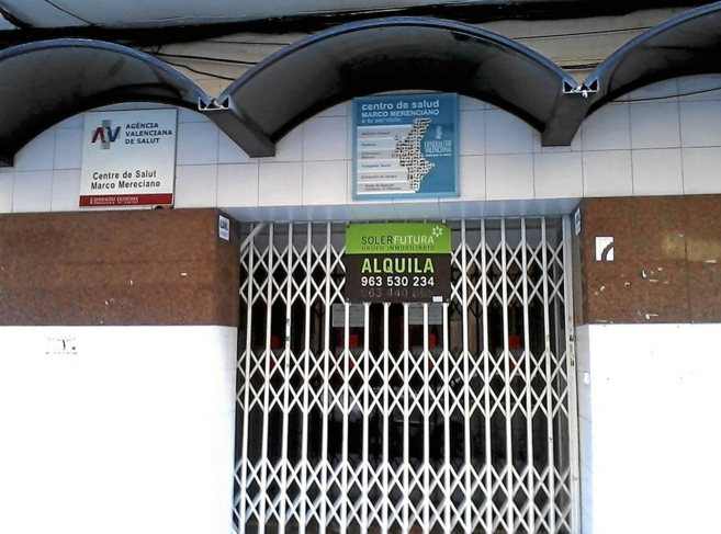 El local donde se ubicaba el centro de salud de Marco Merenciano y que...