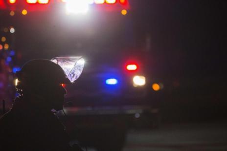 Imagen de un policía antidisturbios en Ferguson.
