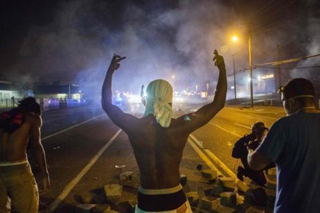 Imagen de las protestas en Ferguson.