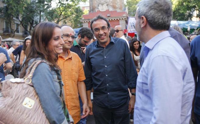 El coordinador general de CDC, Josep Rull, en Gràcia.