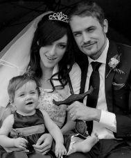 Vivian, en su boda.