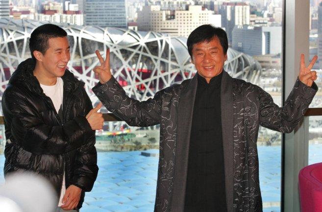 Jackie Chan y su hijo, en una imagen de archivo.