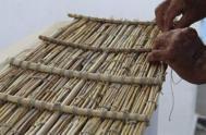 Detalle del trenzado de fibras.