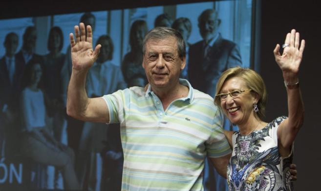 Sosa Wagner y Rosa Díez, en Sevilla, en un acto de UPyD en la...