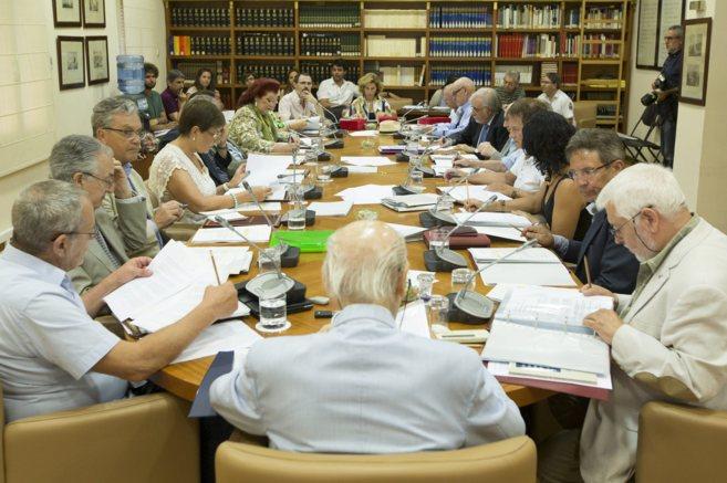 Reunión plenaria del Consell Valencià de Cultura celebrada el pasado...