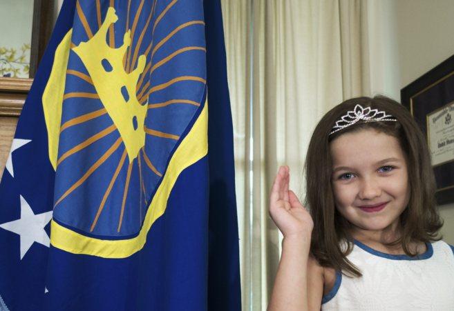 Emily, de siete años, hija de Jeremiah Heaton, en Abingdon (Virginia)...