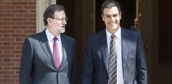 Encuentro en La Moncloa entre el presidente y el líder del PSOE,...