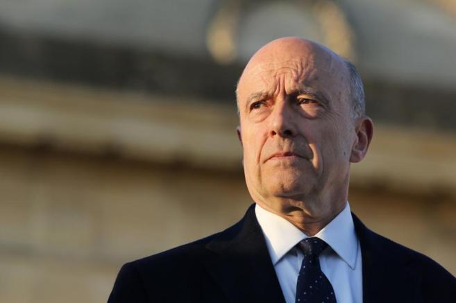 Alain Juppé, durante un acto público como alcalde en Bordeaux...