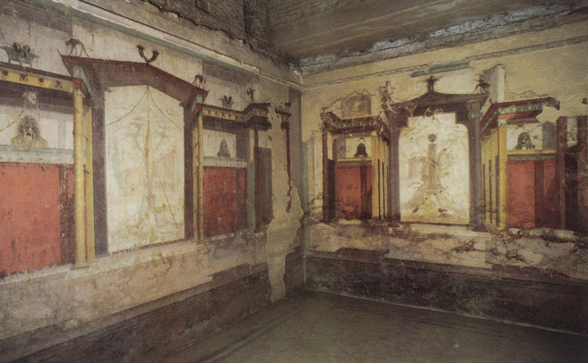 Pinturas del interior de la Casa de Augusto situada en la colina del...