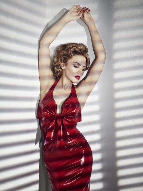 La cantante Kylie Minogue.