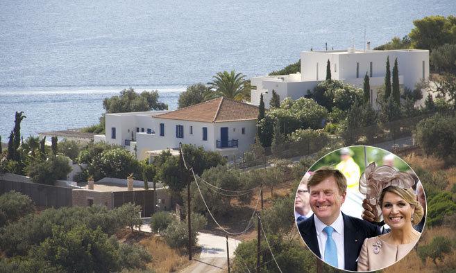 Vista de la lujosa hacienda de Máxima y Guillermo de Holanda en...