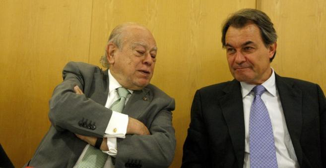 El president Artur Mas y el expresident Jordi Pujol en la reunión de. 755fb3727dd9d