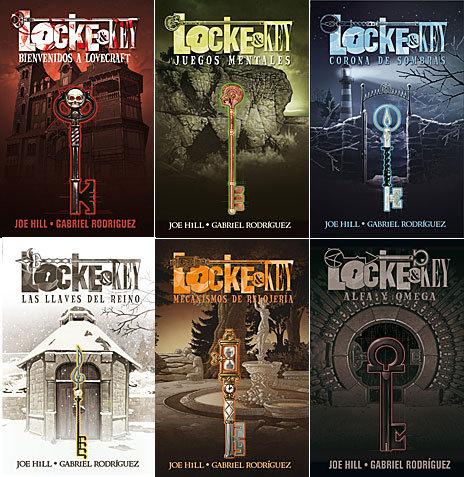 Las portadas de los seis tomos que componen la serie 'Locke & Key'.