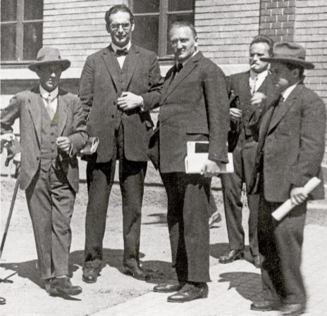 Arnold Schoenberg, Otto Klemperer, Anton von Webern y Erwin Stein en...