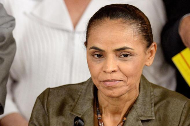 Marina Silva, la candidata socialista a las elecciones presidenciales...