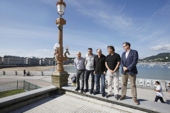 Josemi Beltran, Jose Luis Rebordinos, Patrick Alfaya, Josu Ruiz y Manu...