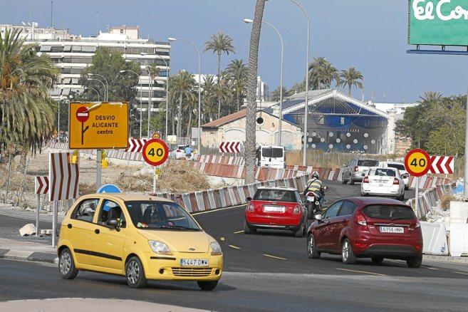Obras del acceso sur de la entrada a Alicante