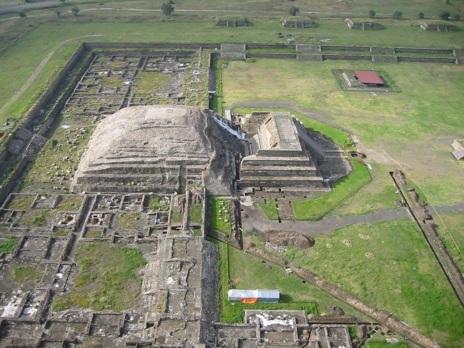 Imágen aérea de Teotihuacan.